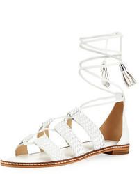 MICHAEL Michael Kors Michl Michl Kors Monterey Woven Lace Up Flat Gladiator Sandal