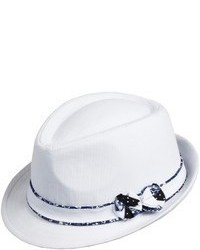 Scala Fedora Hat Cotton Linen