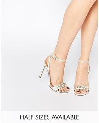 Asos Collection High In The Sky Bridal Heeled Sandals