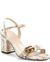 Gg marmont block heel sandal medium 963215