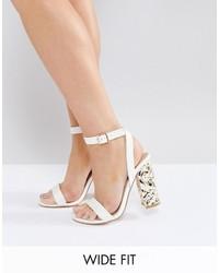 Hazard wide fit heeled sandal medium 3777054