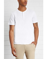 Forever 21 Cotton Henley Tee