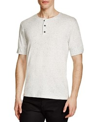 Vince Heathered Short Sleeve Henley 100% Bloomingdales