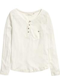 H&M Henley Shirt White
