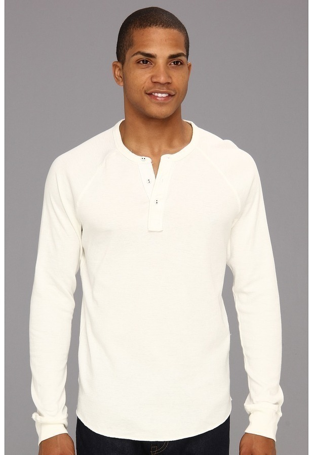 Lucky Brand Double Knit Ls Henley Where To Buy How To Wear