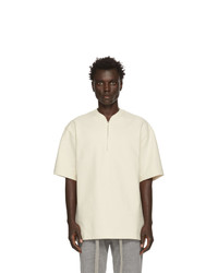 Fear Of God Off White Half Zip Henley T Shirt