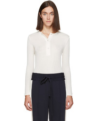 ATEA OCEANIE Off White Ribbed Henley