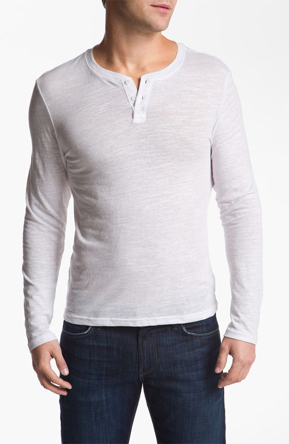 Public opinion the rail long sleeve henley where to buy for Kim kardashian henley shirt