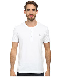 Lacoste Short Sleeve Vintage Wash Henley T Shirt