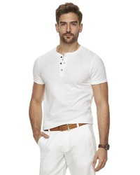 Marc Anthony Slim Fit Patterned Henley