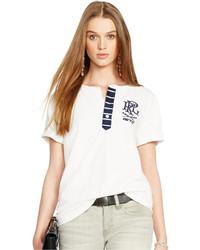Polo Ralph Lauren Striped Placket Henley T Shirt