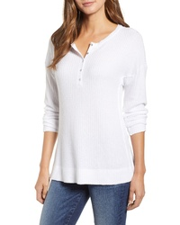 Caslon Thermal Henley Top