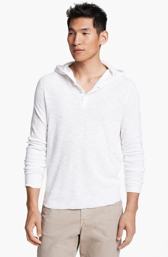 Vince hooded henley thermal t shirt where to buy how for White thermal t shirt