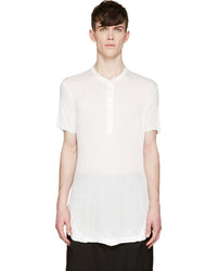 Julius White Short Sleeve Henley