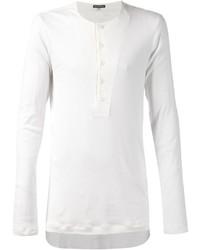 Ann Demeulemeester Ribbed Henley T Shirt