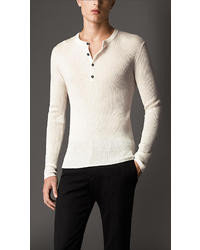 Burberry Ribbed Cashmere Henley
