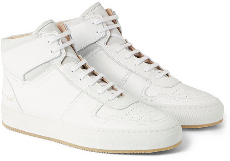 ... Common Projects Common Projects BBall Leather High Top Sneakers