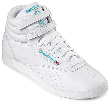 b466f046a076 ... jcpenney › Reebok › White High Top Sneakers Reebok Freestyle High Top  Sneakers ...