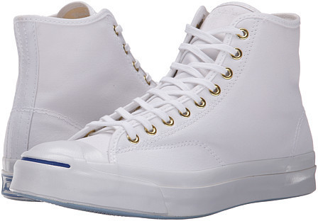 23fc9fac9397cc ... White High Top Sneakers Converse Jack Purcell Signature Duck Canvas Hi  ...