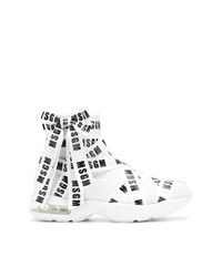 MSGM Logo Ribbon Hi Top Sneakers