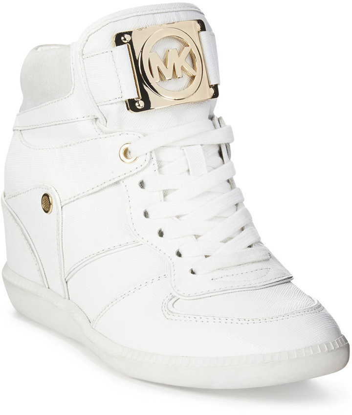 50330ba0e2d ... MICHAEL Michael Kors Michl Michl Kors Nikko Lace Up High Top Wedge  Sneakers ...
