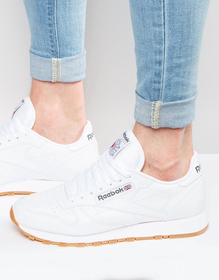 Reebok Sneakers In Pelle Classico In Bianco 49799 x0Gpz95jF