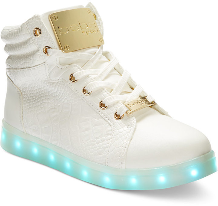 53f09130a981f Bebe Sport Keene Light Up High Top Sneakers
