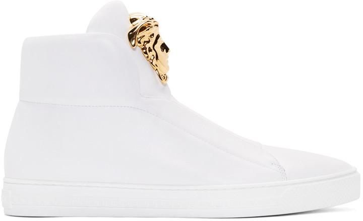 Chaussures De Sport Medusa - Blanc Versace kxEGG