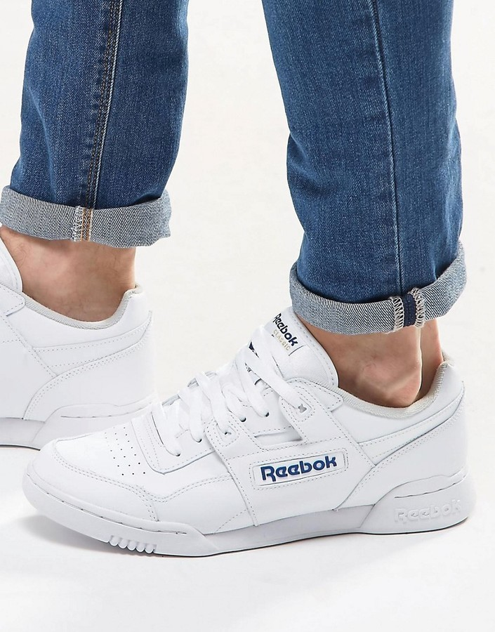 bc0208878b15e ... High Top Sneakers Reebok Workout Plus Sneakers In White 2759 ...