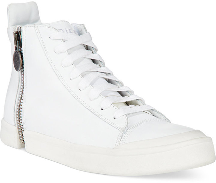 Diesel Nentish Leather High-top Sneakers From China Sale Online Discount Outlet Store LLrOHOq1