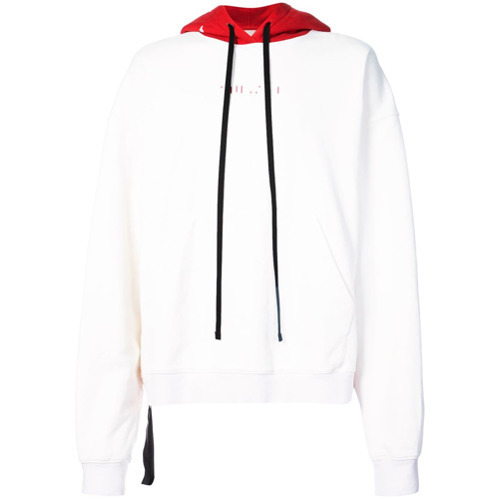 Unravel Project Bicolour Drawstring Hoodie