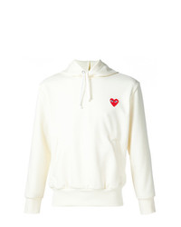 Comme Des Garcons Play Comme Des Garons Play Heart Application Hoodie
