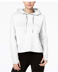 Calvin Klein Performance Relaxed Cropped Fleece Hoodie