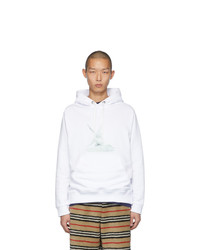 Burberry White Cupid Shawn Hoodie