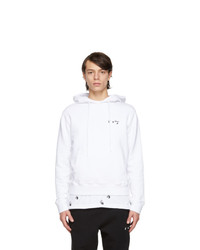 Off-White White Slim Fit Logo Hoodie