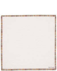 Paul Smith White Multistripe Pocket Square