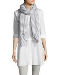 Striped organic cotton scarf medium 4397447