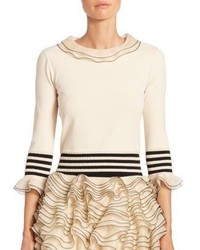 Alexander McQueen Tiered Ruffle Knit Sweater
