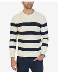 Nautica Breton Striped Crew Neck Sweater