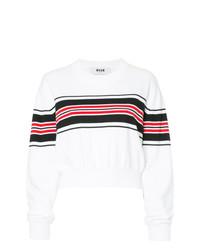 MSGM Cropped Stripe Panel Sweater