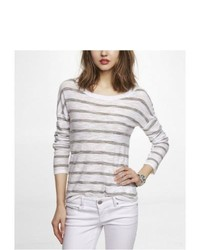 Express Striped Rolled Sleeve Sweater