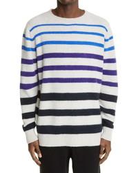 The Elder Statesman Horizon Stripe Cashmere Sweater