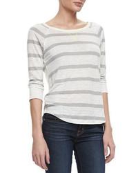 Joie Adelynn Striped Linen Sweater
