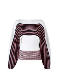 MSGM Loose Sleeves Striped Jumper