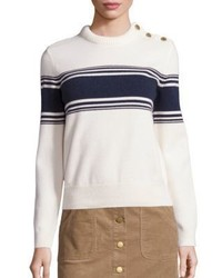 Tory Burch Lukas Striped Sweater