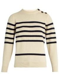 MiH Jeans Mih Jeans Sophia Breton Striped Cashmere Crew Neck Sweater