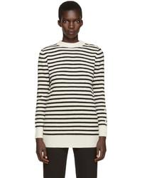 MM6 MAISON MARGIELA Off White Black Striped Sweater