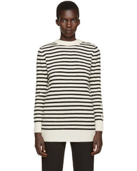 MM6 MAISON MARGIELA Off White Black Striped Sweater
