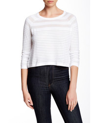 Autumn Cashmere Shadow Stripe Crop Sweater