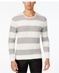 INC International Concepts Snakeskin Pattern Striped Sweater Only At Macys